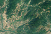 Фото: Lauren Dauphin, using Landsat data from the U.S. Geological Survey / NASA Earth Observatory
